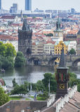 El río de Praga Fotografía de archivo