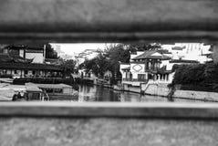 El río de Qinhuai, Nanjing, China Foto de archivo