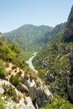 El río de Verdon en Verdon Gorges el valle imágenes de archivo libres de regalías