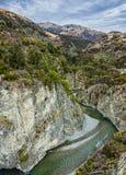 El río de Waimakariri Imagen de archivo