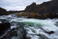El río del ¡de Ã-xarà cerca de los rfoss del ¡de Ã-xarà cae Fotos de archivo libres de regalías