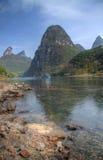 El río del li en el yangshuo Imágenes de archivo libres de regalías