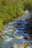 El río del Monte Bianco Foto de archivo libre de regalías
