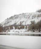 El río Don se cubre con hielo Imágenes de archivo libres de regalías