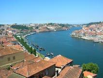 El río el Duero de Oporto en Portugal Imagen de archivo libre de regalías