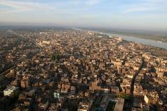 El río el Nilo - aéreo/elevó la visión Imagen de archivo libre de regalías
