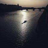 El río en Florencia Foto de archivo