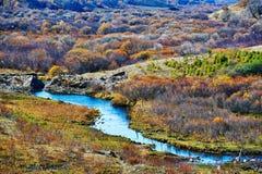 El río en la estepa del otoño Imagen de archivo libre de regalías