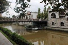 El río en Lublaň foto de archivo libre de regalías