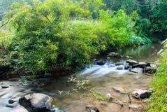El río en el paisaje del parque nacional de Sri Sat Cha Na Lai, Sukhothai, Tailandia Imagen de archivo