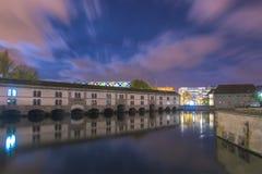 El río enfermo en Estrasburgo foto de archivo libre de regalías