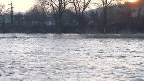 El río estalló sus bancos almacen de video