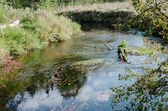 El río fluye sol que brilla Imágenes de archivo libres de regalías