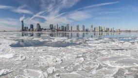 El río Hudson en invierno Fotos de archivo libres de regalías