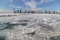 El río Hudson en invierno Foto de archivo libre de regalías