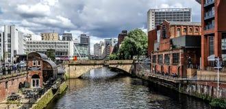 El río Irwell, Manchester fotos de archivo