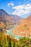 El río Jinsha Fotos de archivo