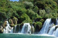 El río Krka Imágenes de archivo libres de regalías