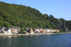 El río la Mosa en el Ardenas, Bélgica Imágenes de archivo libres de regalías