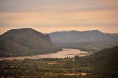 El río Mekong. Fotos de archivo libres de regalías