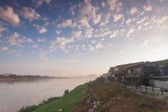 El río Mekong en chiang kan, provincia de Loei Tailandia foto de archivo