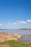 El río Mekong en ka Bao, Mukdahan, Tailandia de Keang Imagenes de archivo