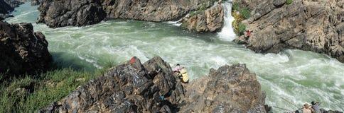 El río Mekong en la isla de Don Khon en Laos Foto de archivo libre de regalías