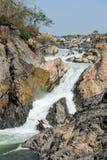 El río Mekong en la isla de Don Khon en Laos Imagen de archivo libre de regalías