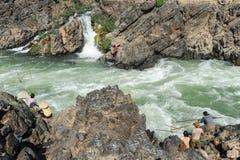 El río Mekong en la isla de Don Khon en Laos Imagen de archivo