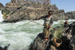 El río Mekong en la isla de Don Khon en Laos Imagenes de archivo