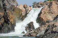 El río Mekong en la isla de Don Khon en Laos Fotos de archivo libres de regalías