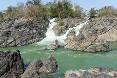 El río Mekong en la isla de Don Khon en Laos Fotografía de archivo libre de regalías