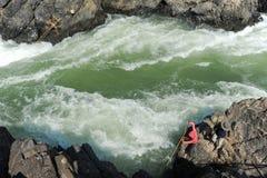 El río Mekong en la isla de Don Khon en Laos Imágenes de archivo libres de regalías