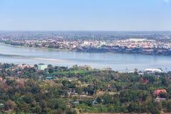 El río Mekong en Mukdahan, Tailandia Fotografía de archivo