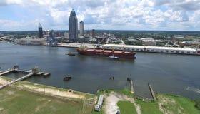 El río Mobile y céntrico fotos de archivo