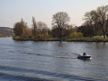 El río Moldava Foto de archivo