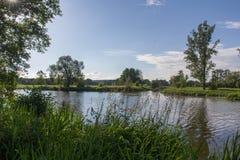 El río Naab en Baviera Fotografía de archivo