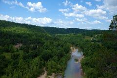 El río negro Foto de archivo libre de regalías
