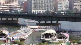 El río Nilo en El Cairo - Egipto - HD lleno video 1080