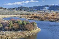 El río North Platte en Colorado Fotos de archivo