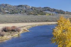 El río North Platte en Colorado Fotografía de archivo