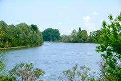 El río Po en Italia Imagen de archivo libre de regalías