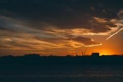El río Potomac en la puesta del sol, en Washington, DC Imagen de archivo libre de regalías
