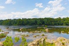 El río Potomac en el verano cerca del Washington DC, los E.E.U.U. Imagen de archivo libre de regalías
