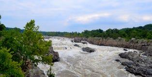 El río Potomac Great Falls Virginia imagen de archivo libre de regalías