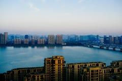 El río Qiantang Fotografía de archivo libre de regalías