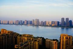 El río Qiantang imagen de archivo libre de regalías