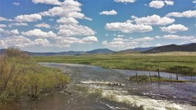 El río South Platte Fotos de archivo