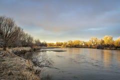 El río South Platte en Colorado Fotos de archivo