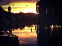 El río Támesis, Berkshire Foto de archivo
